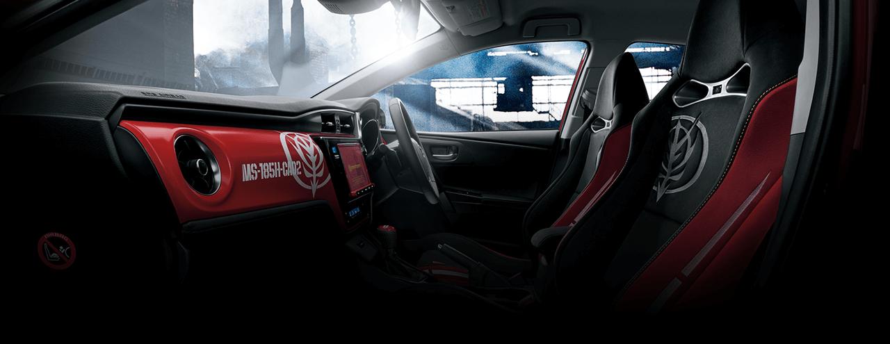 車體及內部裝飾再現GUNDAM的世界。GPS、駕駛面板等所見之處都設有專門的裝飾。衷心邀請您乘坐并體驗「新發現」。