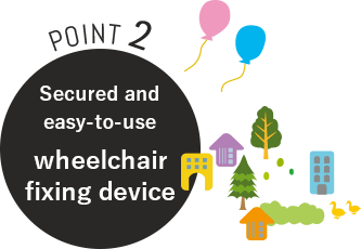 POINT2 Secured and easy-to-use wheelchair fixing device