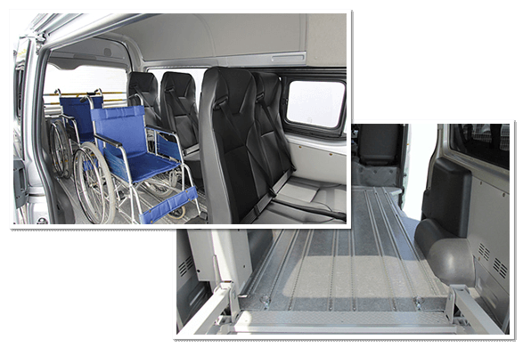 Easily lining 3 wheelchairs without feeling cramped.