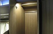 Closet with light