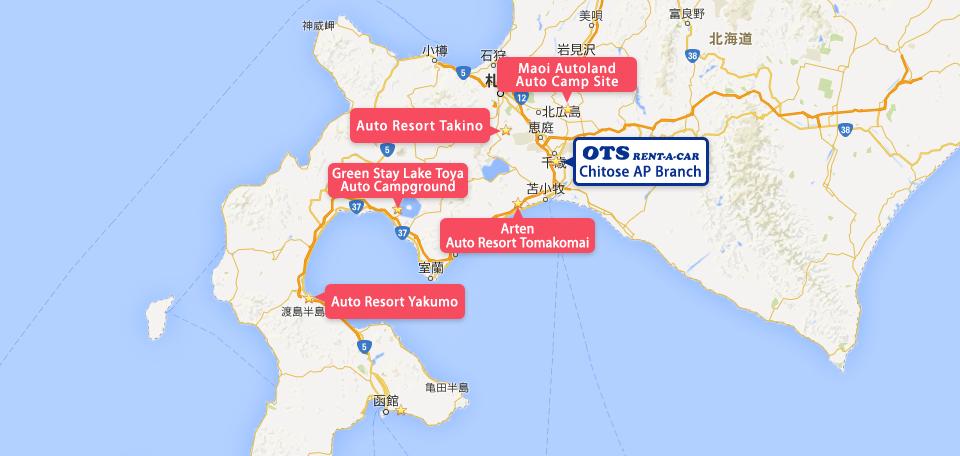 OTS Rent-a-car access map