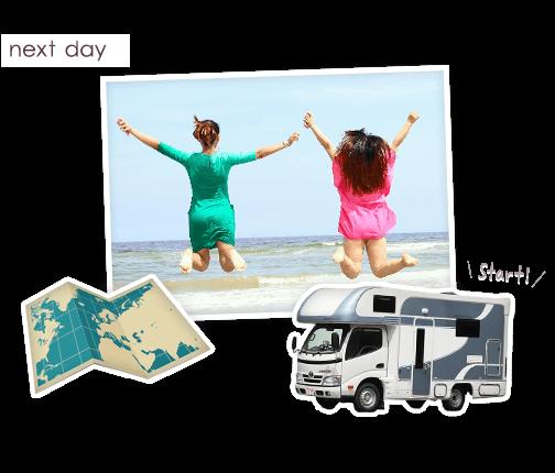 沖縄のキャンピングカー