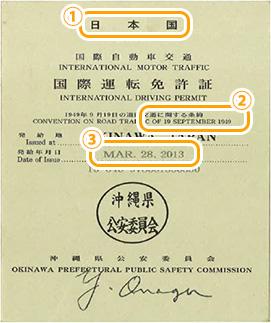 국제 운전 면허증 앞면