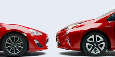 トヨタのスポーツカー「86」と同じレベルの低重心ボディ
