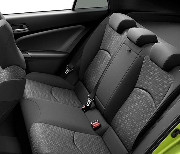 Seats with lumbar support for added comfort on those long drives.