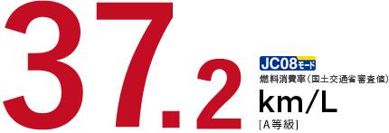 JC08 燃費消費率(国土交通省審査値) 37.2 km/L[A等級]