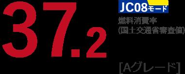 JC08モード 燃費消費率(国土交通省調査) 37.2 km/L[Aグレード]